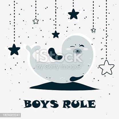 istock Cute seal 1324022241