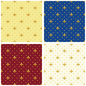 Cute seamless Fleur de Lis pattern in traditional colors for your decoration