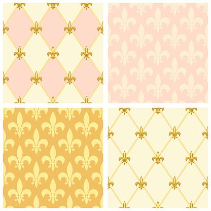 Cute seamless Fleur de Lis pattern