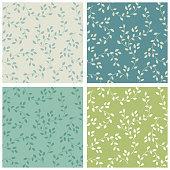 Cute seamless floral pattern with leaves branches for your decoration