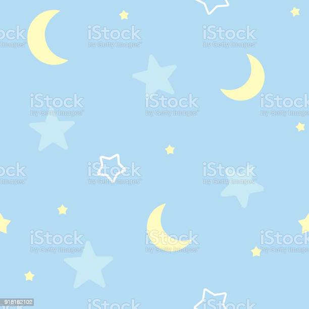 Cute seamless pattern background with stars and moon childrens baby vector id918162102?b=1&k=6&m=918162102&s=612x612&h=juxrhznv1zdww5zrbqwdut3o4ognfqbzyoikr1acag0=