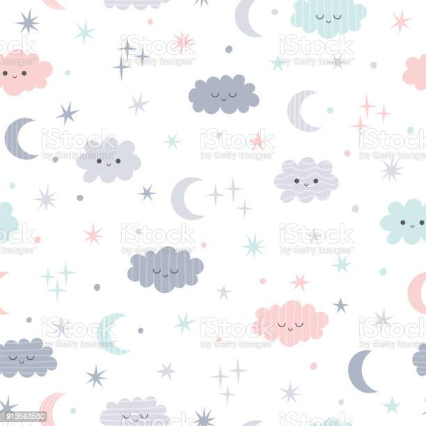 Cute seamless pattern for kids lovely children background with moon vector id913563530?b=1&k=6&m=913563530&s=612x612&h=d2cme evdg2pbouejsksjyc8ytfm6vo3zab7wt7cxrg=