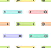 Cute seamless pattern with arrows