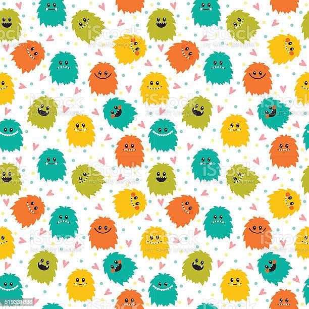 Cute seamless pattern with cartoon smiley monsters vector id519331386?b=1&k=6&m=519331386&s=612x612&h=skzeaub33dyimzrgqpmivf1uopuwrwf8cylsunsgv 8=