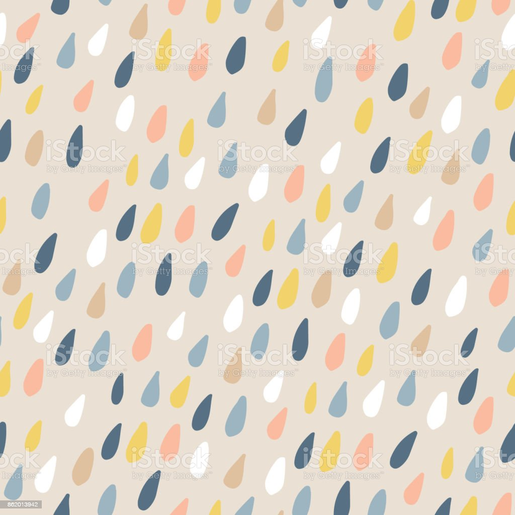 Cute seamless pattern with colorful water drops. Childish texture for fabric, textile.Vector Illustration vector art illustration