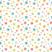 Cute seamless pattern with stars. Stylish print with hand drawn colorful stars. Vector illustration