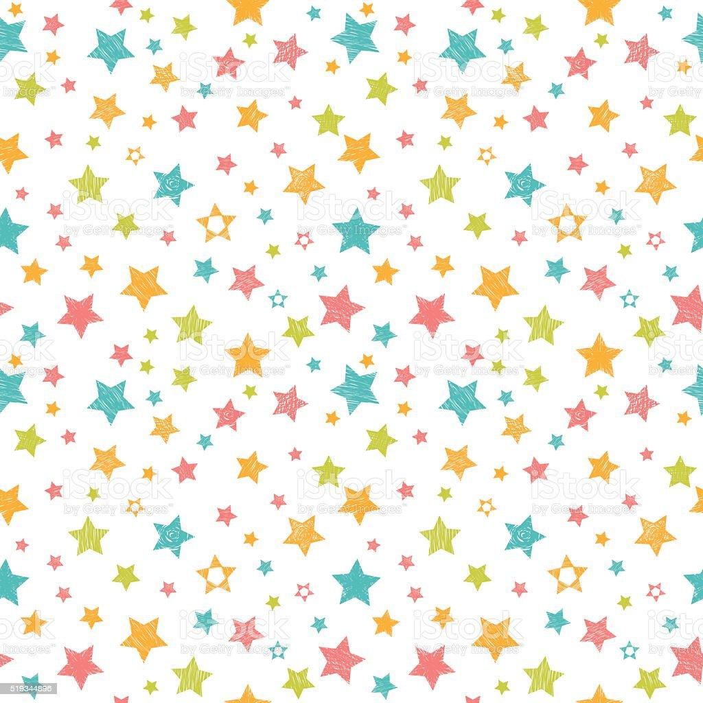 かわいいシームレスなパターンに星ます。スタイリッシュなプリント ベクターアートイラスト