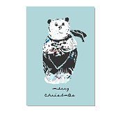 Cute seamless pattern with winter motifs and bear animal in cartoon childish style. Kids nursery hand drawn background