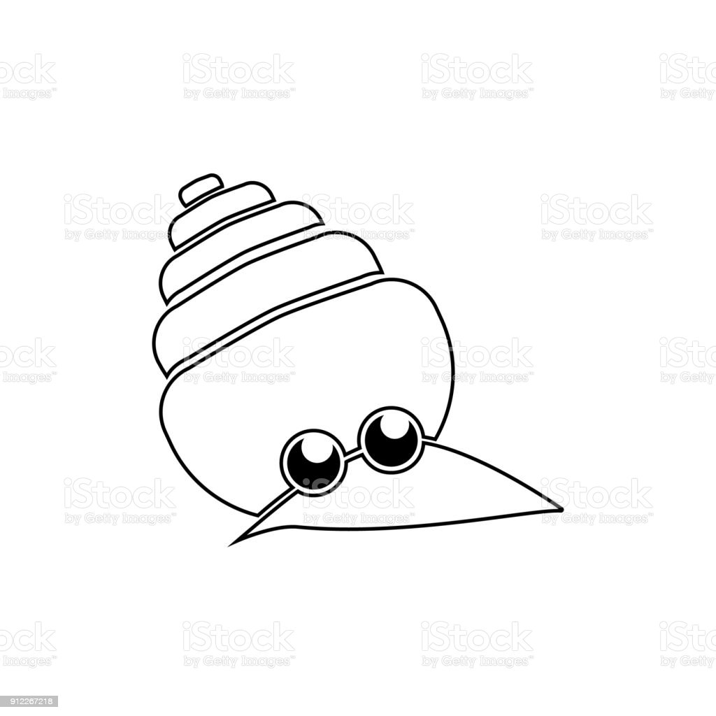 Sevimli Deniz Kabugu Satiri Simgesi Suda Yasayan Hayvan Ogesi