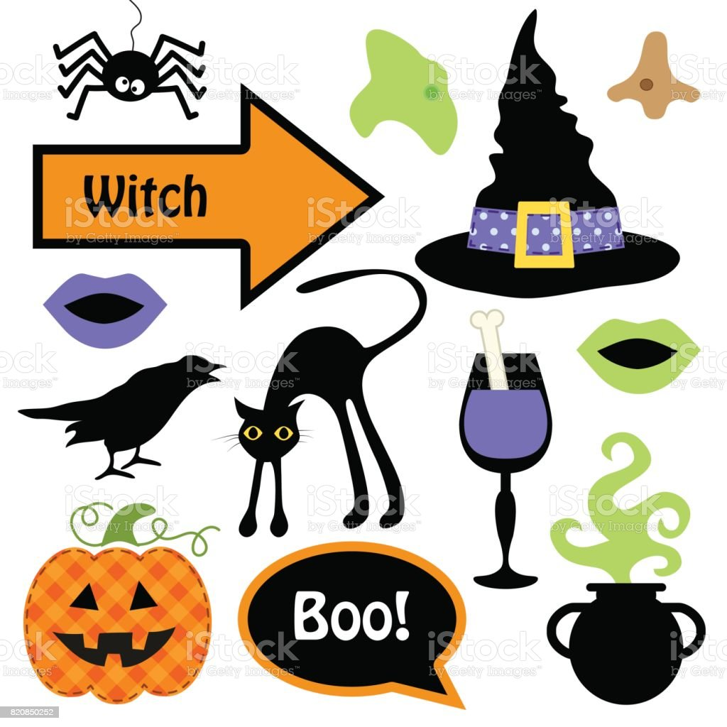 Cute Set Of Halloween Witch Photo Booth Props Grab A Prop And Strike
