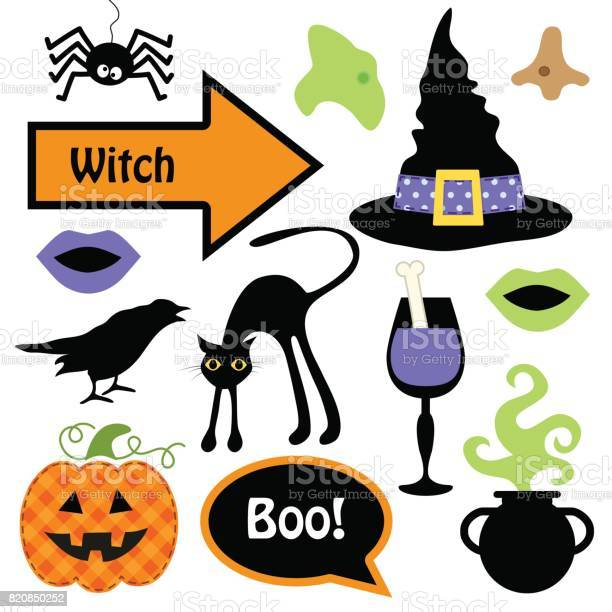 Cute set of halloween witch photo booth props grab a prop and strike vector id820850252?b=1&k=6&m=820850252&s=612x612&h=zsjha6atzjbjeadcl h qntsgsxdugvrykecsvdo6fe=