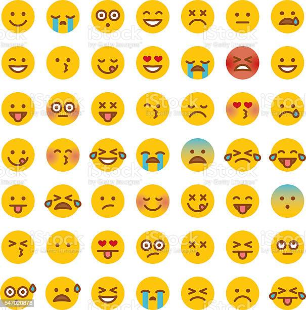Cute Set Of Simple Emojis Stock Illustration - Download Image Now
