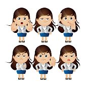 Cute Set - Set of businesspeople character