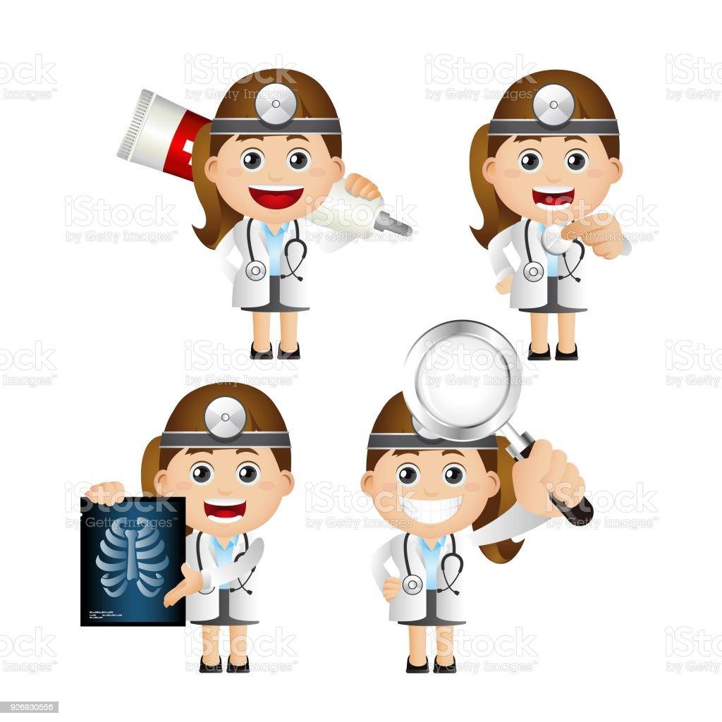 医者のかわいいセット セット X線撮影のベクターアート素材や画像を多数ご用意 Istock