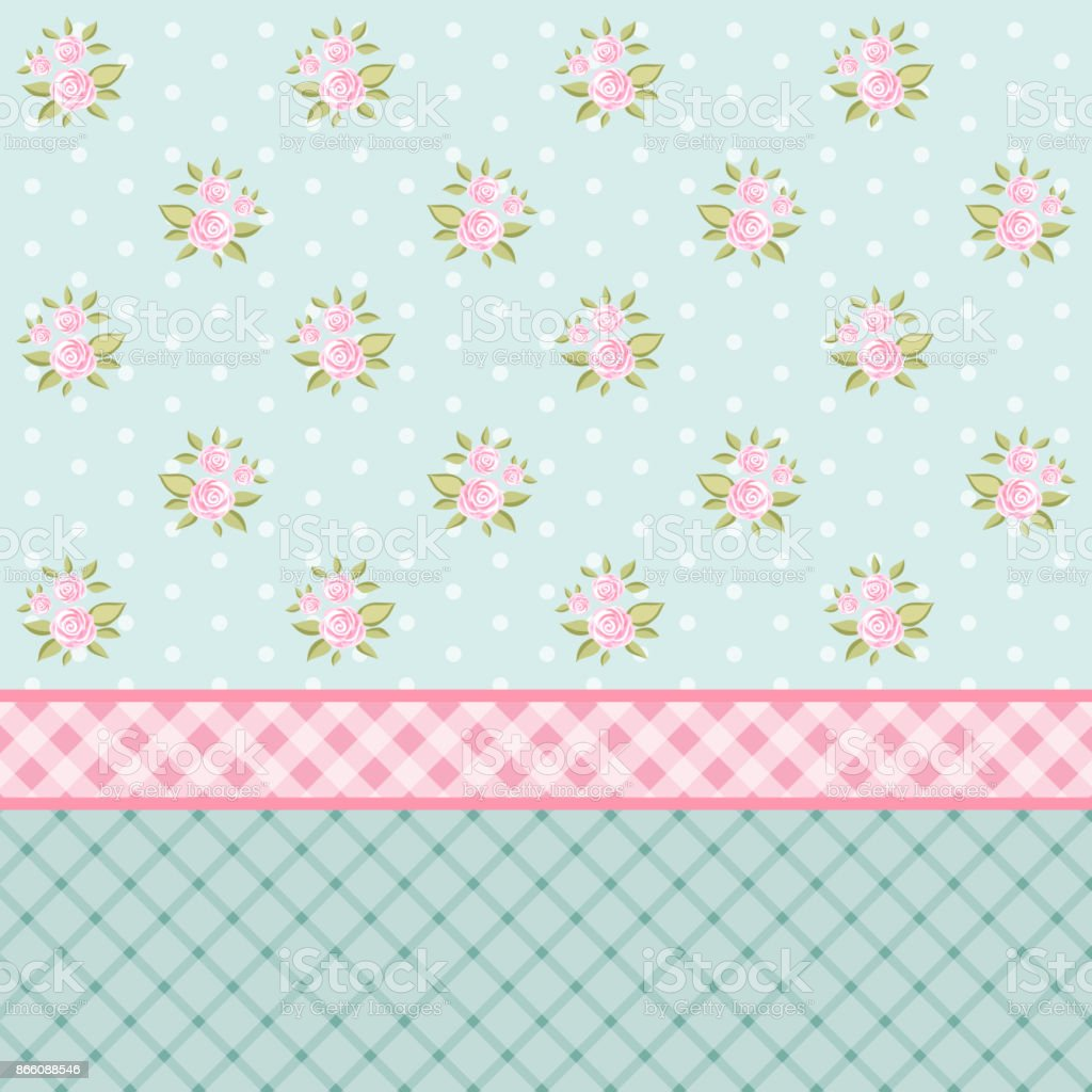 Cute Shabby Chic Floral Background For Your Decoration Royalty Free