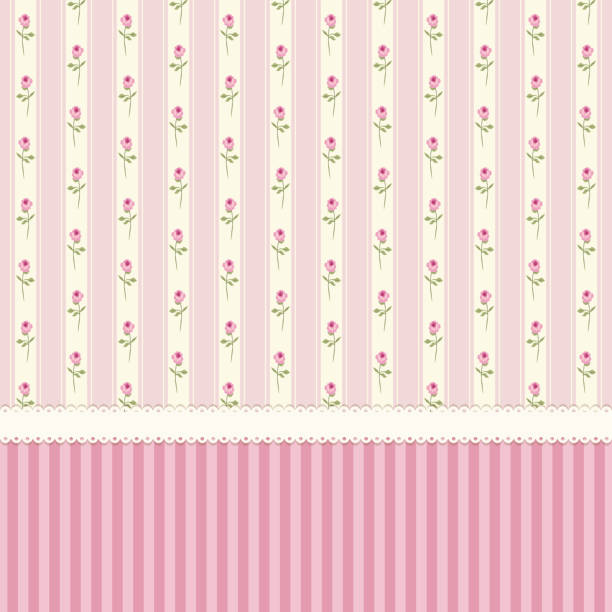 Cute shabby chic floral background for your decoration Cute shabby chic floral background for your decoration, can be used as banner, card, invitation etc shabby chic stock illustrations