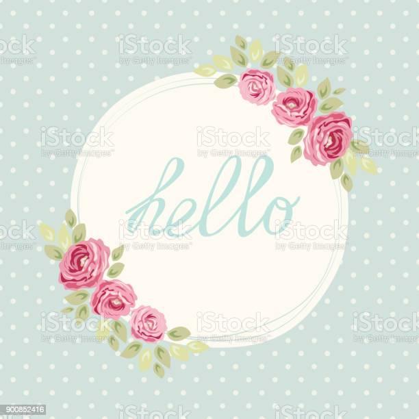 Cute shabby chic frame with roses on seamless polka dots background vector id900852416?b=1&k=6&m=900852416&s=612x612&h=myxhxfqv5twupggrkbh2rbd9h3yot8x6ikuowgzgk54=
