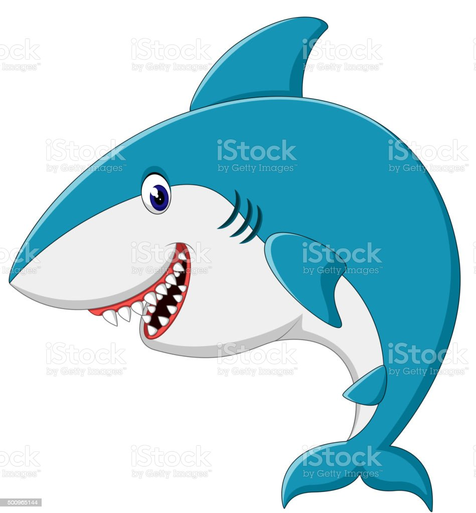 Cute Shark Cartoon Stock Illustration Download Image Now Istock
