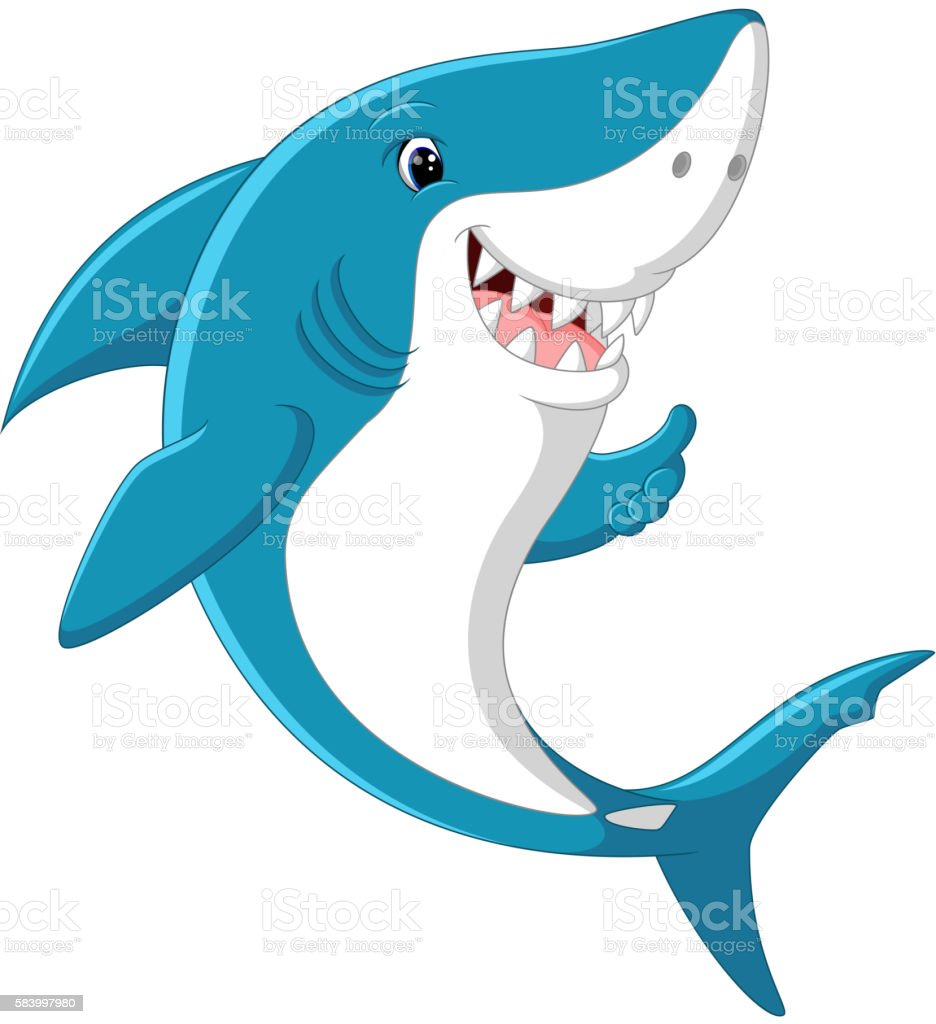 cute shark cartoon stock vector art amp more images of anger