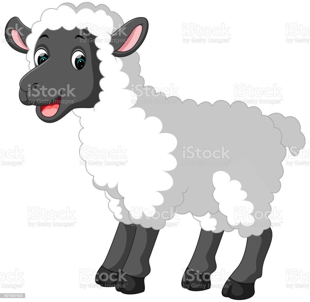 Dessin animé mignon mouton - Illustration vectorielle
