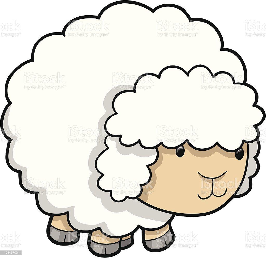 Cute Sheep Lamb Stock Illustration - Download Image Now ...