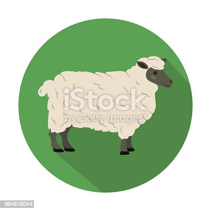 Cute Sheep On Green Background Stock Vector Art & More Images of Agriculture 964816044