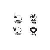 istock Cute sheep  vector icon illustration 1191558737