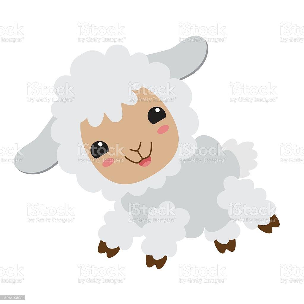 かわいい羊ベクトルイラスト イラストレーションのベクターアート素材