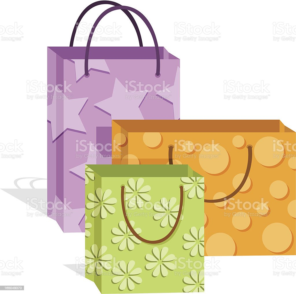 Cute Shopping Bags royalty-free stock vector art