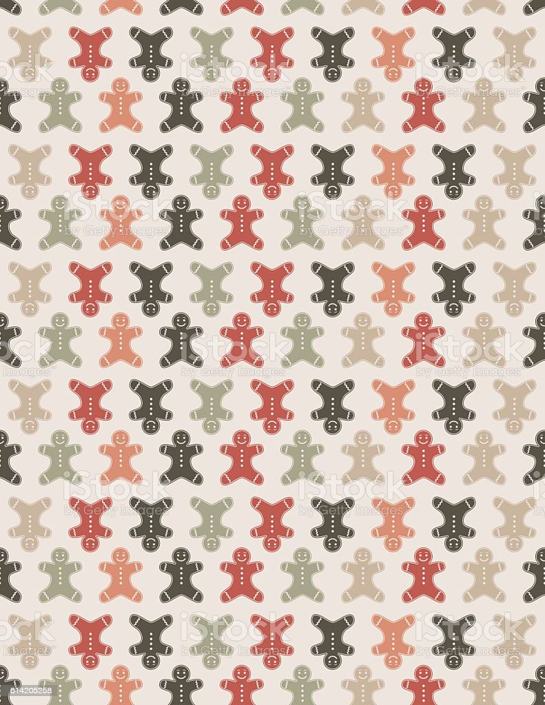 Cute Silhouettes Christmas Pattern Background