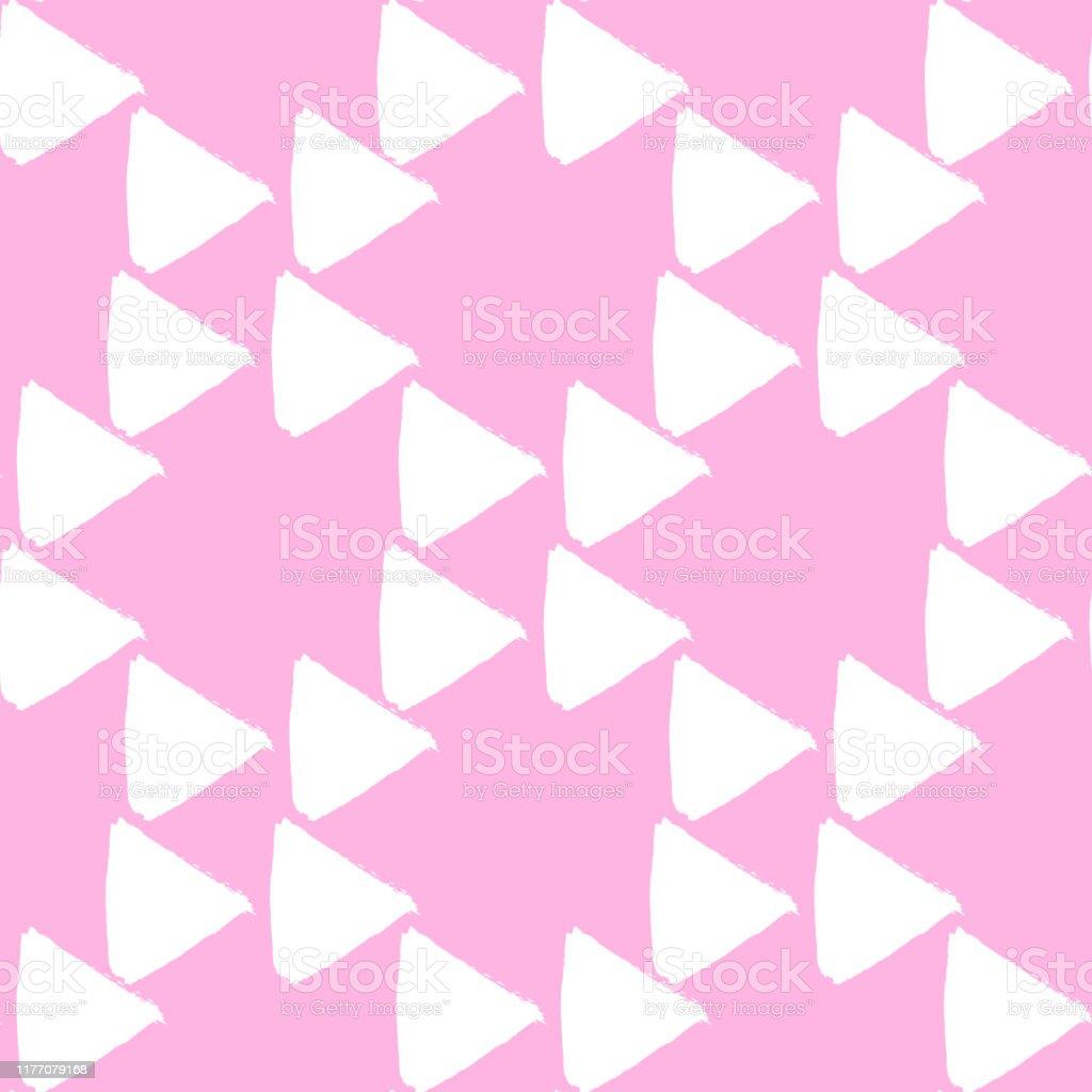 三角形とかわいいシンプルな幾何学的シームレスなパターン包装紙招待状