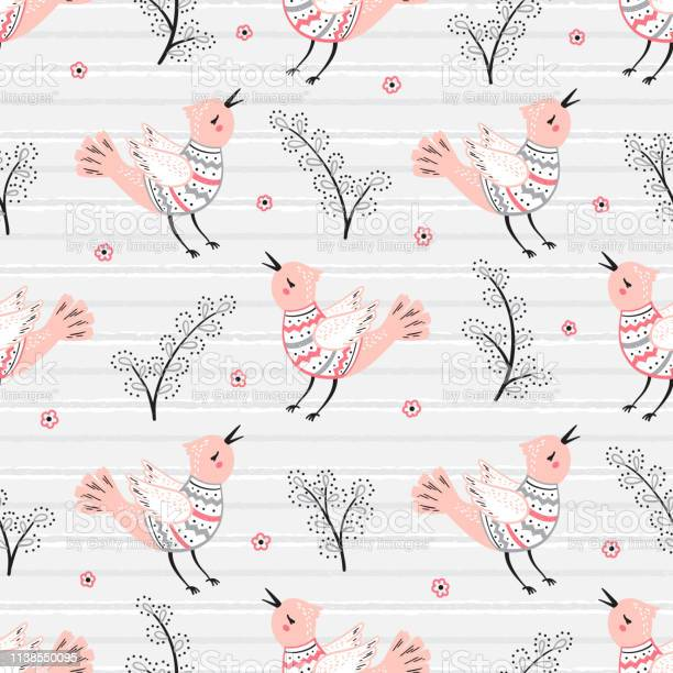 Cute singing bird with branches of willow seamless pattern spring vector id1138550095?b=1&k=6&m=1138550095&s=612x612&h=863wqcu8byp01uu2 l6hasj9ccwdsj2vkfy6pu 4pco=