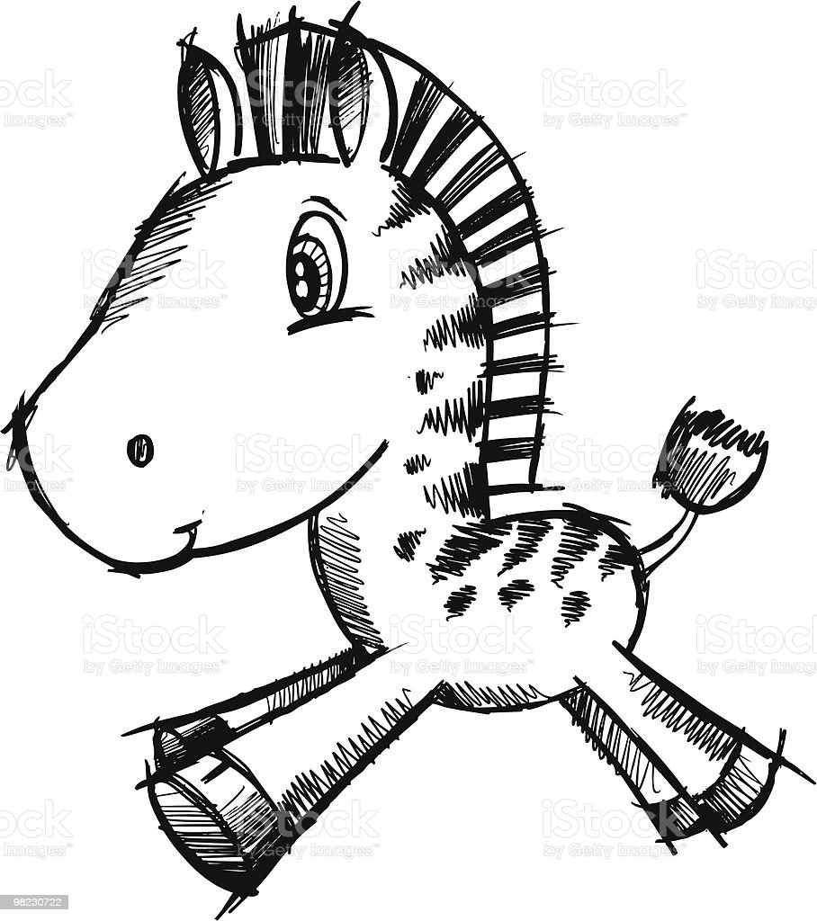 Cute Sketch Doodle Zebra royalty-free cute sketch doodle zebra stock vector art & more images of animal