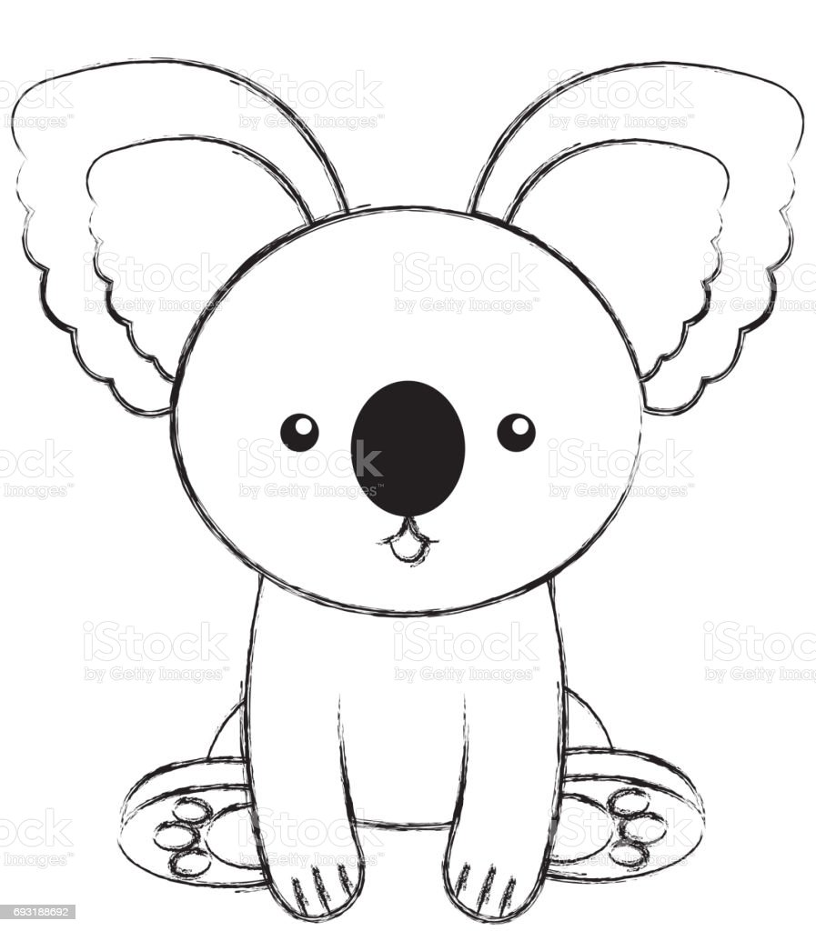 Uncategorized Draw Koala cute sketch draw koala cartoon stock vector art 693188692 istock royalty free art
