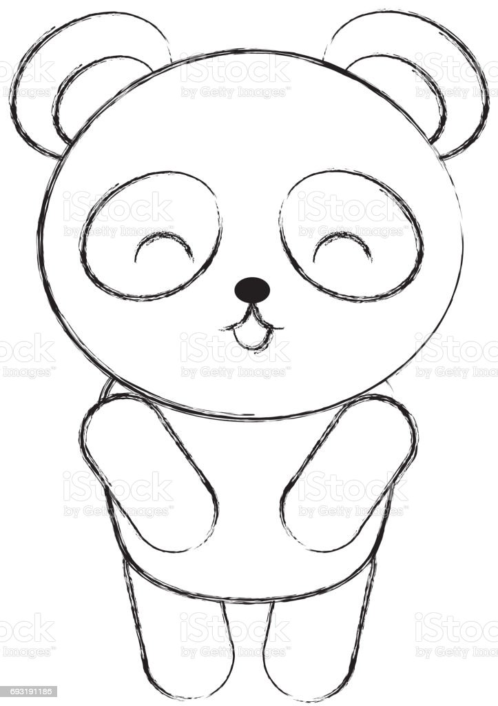 Cute Sketch Draw Koala Cartoon Stock Vector Art More Images Of