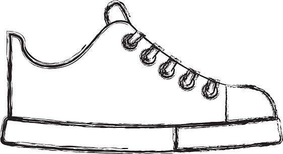 on sale 60fc1 78ef2 Niedliche Skizze Zeichnen Schuh Cartoon Stock Vektor Art und ...