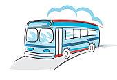 istock Cute Sketchy Bus 1297045664