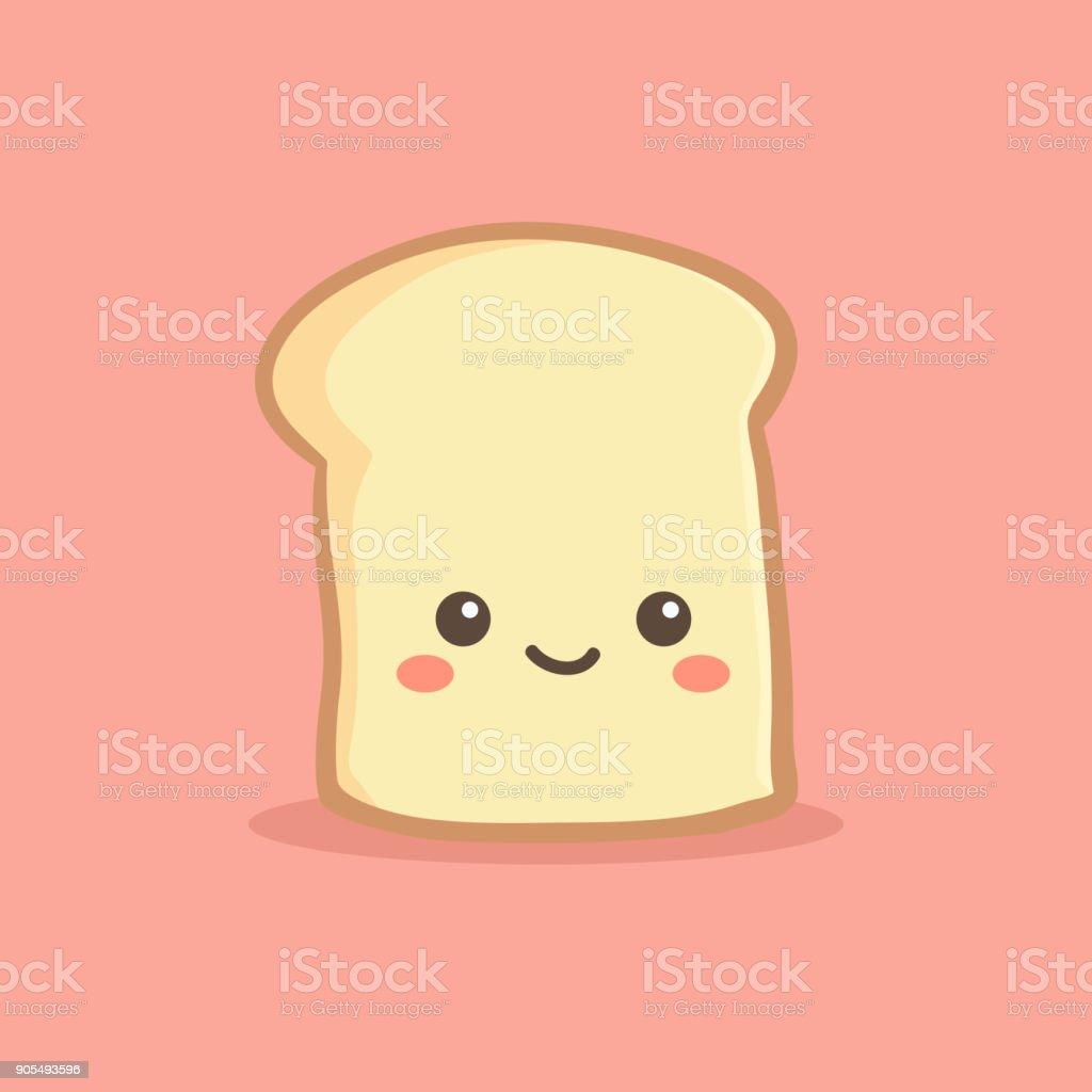 かわいいスライス パン パン ベクトル イラスト漫画
