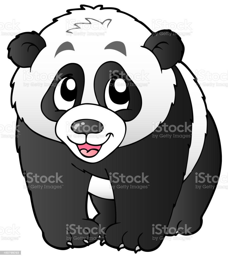 Cute small panda royalty-free stock vector art