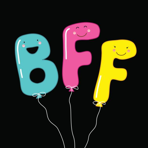 8 Letter Cartoon Characters : Royalty free bffs party clip art vector images