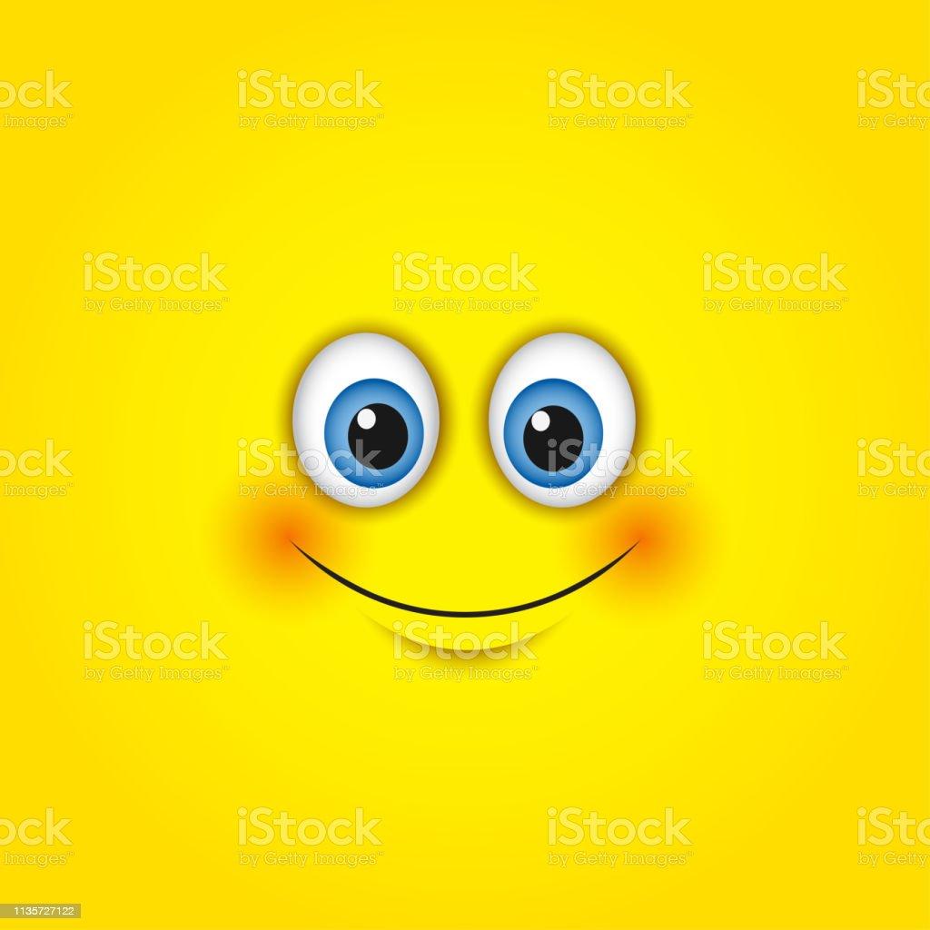 かわいい笑顔の絵文字絵文字スマイリーベクトルのイラスト