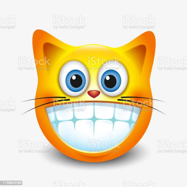 Cute smiling grinning cat emoticon showing teeth emoji smiley vector vector id1133643183?b=1&k=6&m=1133643183&s=612x612&h=qxx gcgpxvm0trwr fbxxoy cpxis47ncogktyr7eue=