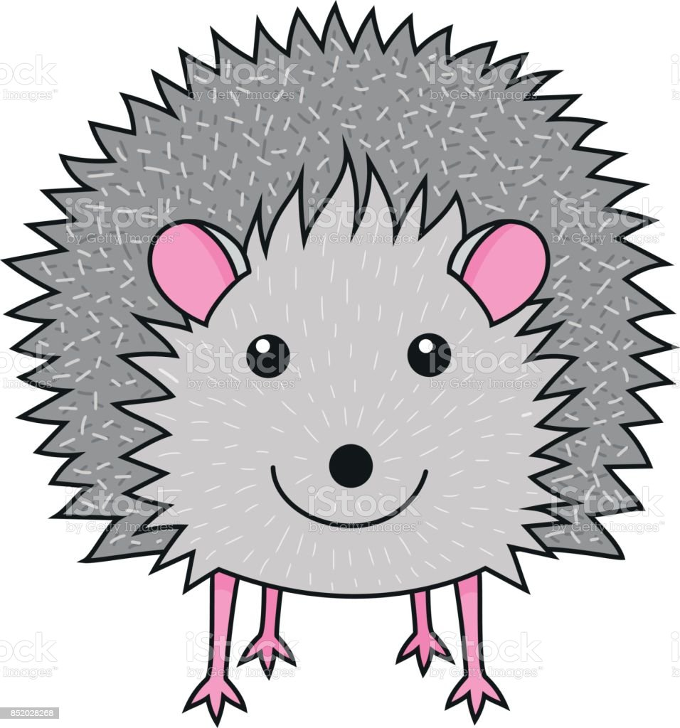 Cute smiling hedgehog art print royalty-free cute smiling hedgehog art print stock vector art & more images of animal