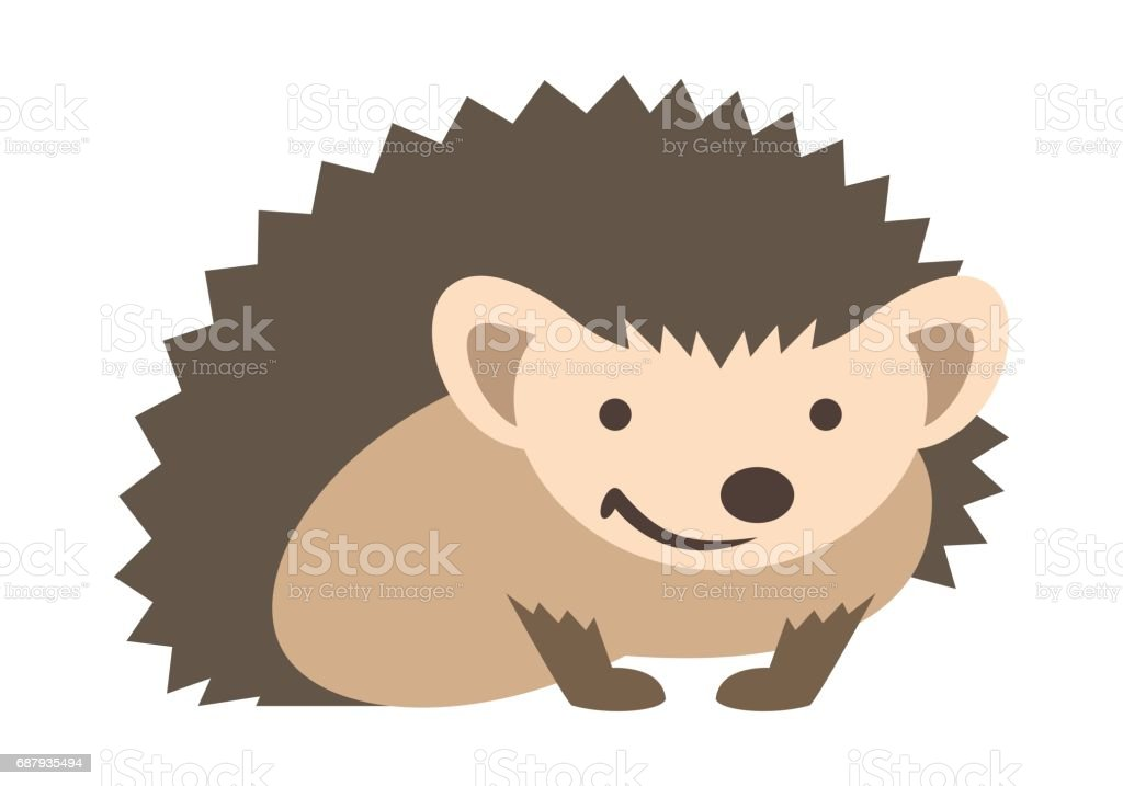 royalty free silhouette of a baby hedgehog clip art vector images rh istockphoto com hedgehog clipart outline hedgehog clipart png