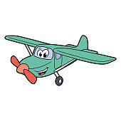 Cute smiling plane