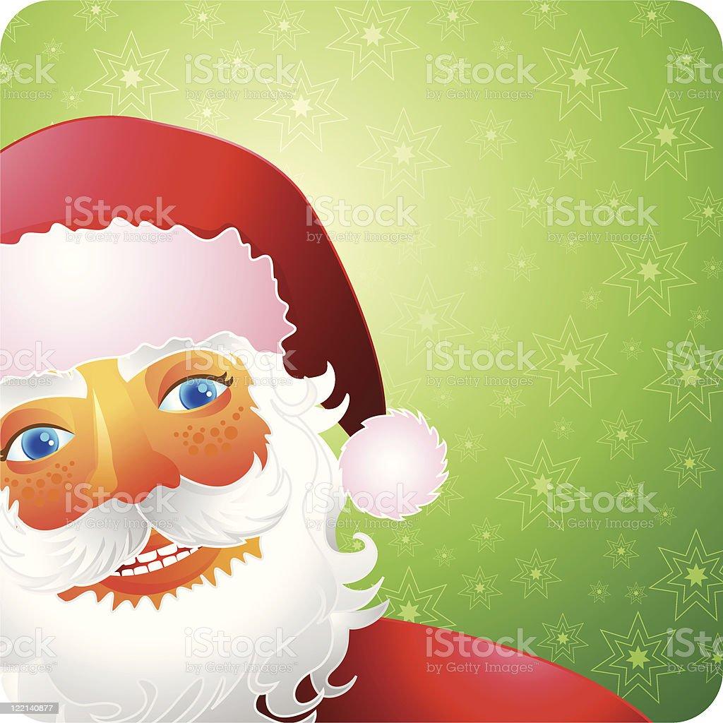 Cute Smiling Santa royalty-free stock vector art