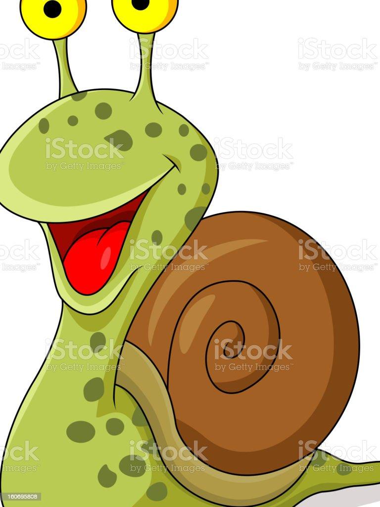 Cute snail cartoon royalty-free stock vector art