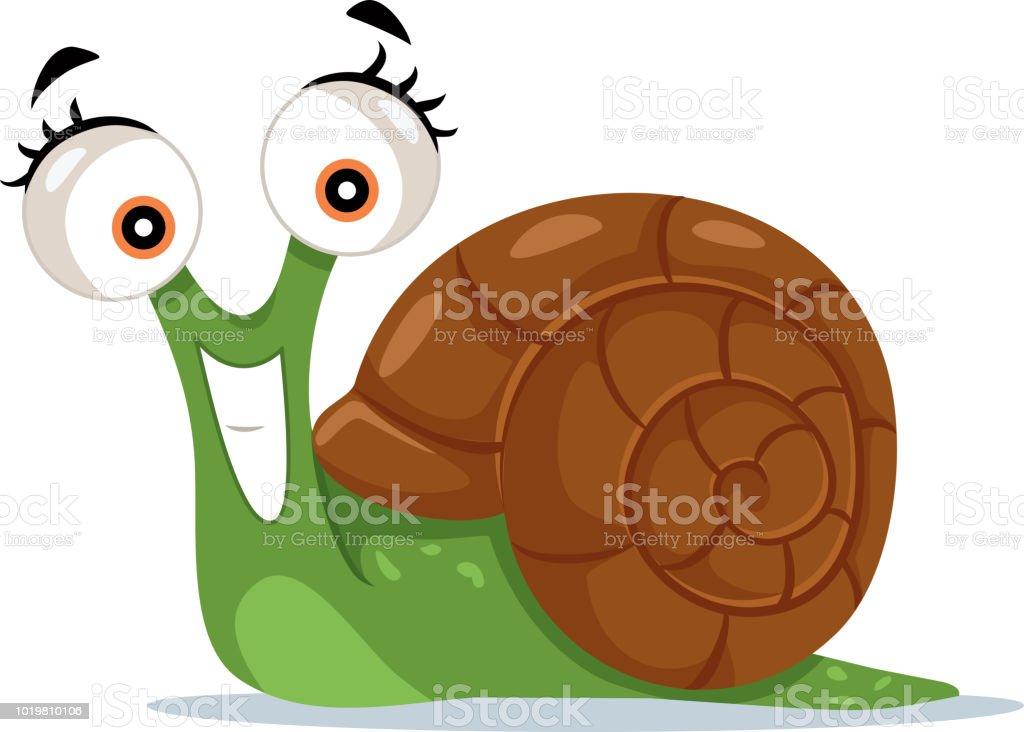 Cute Snail Vector Cartoon Illustration Stock Illustration Download Image Now Istock