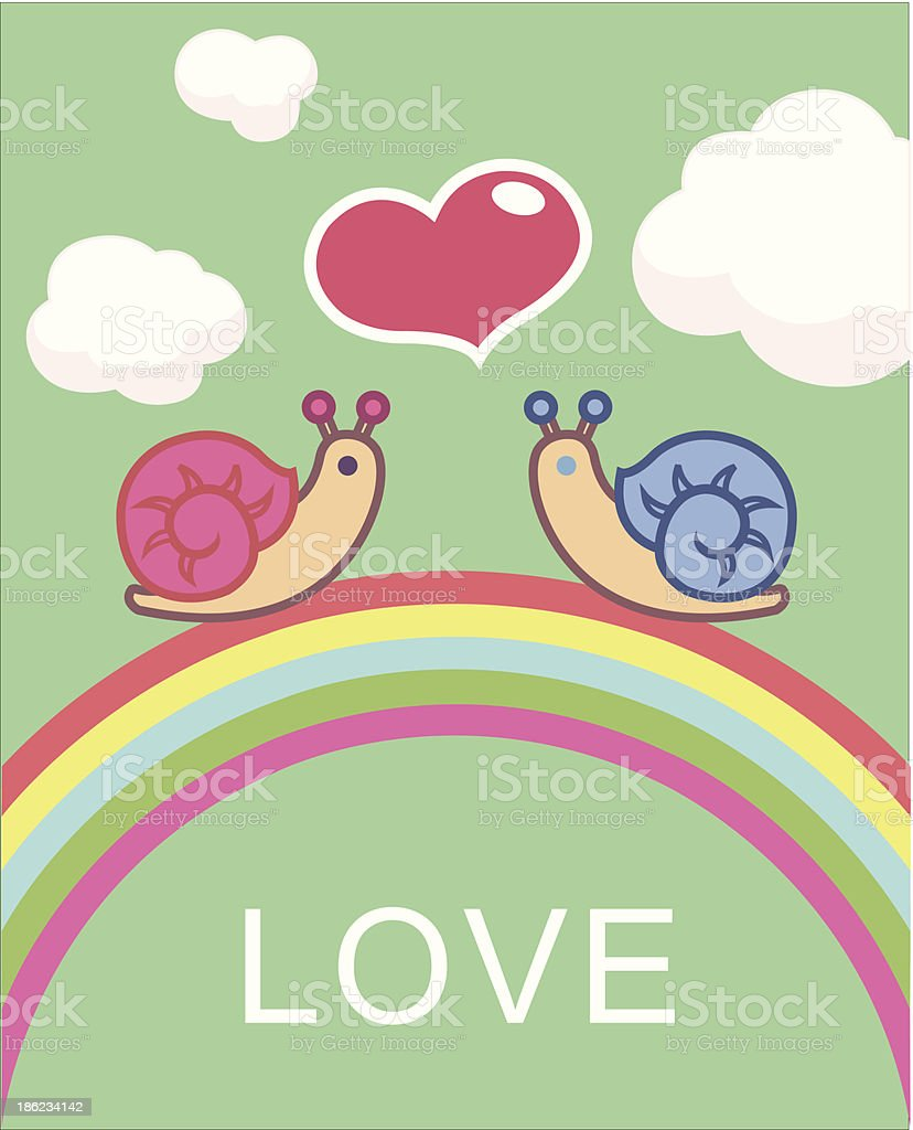 かわいいタニシ のイラスト素材 186234142   istock