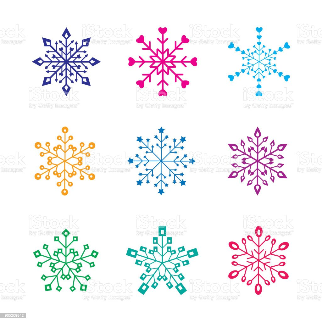 cute snowflake pattern vector set. cute snow flakes pattern vector set royalty-free cute snowflake pattern vector set cute snow flakes pattern vector set stock illustration - download image now